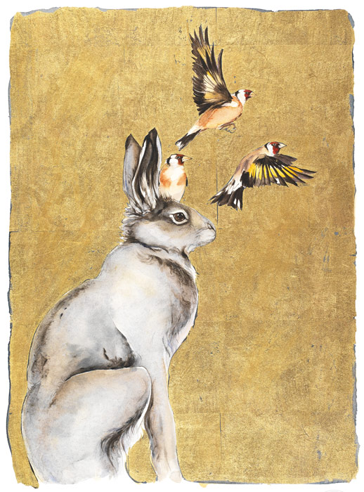 The Lost Words - Hare & Goldfinches